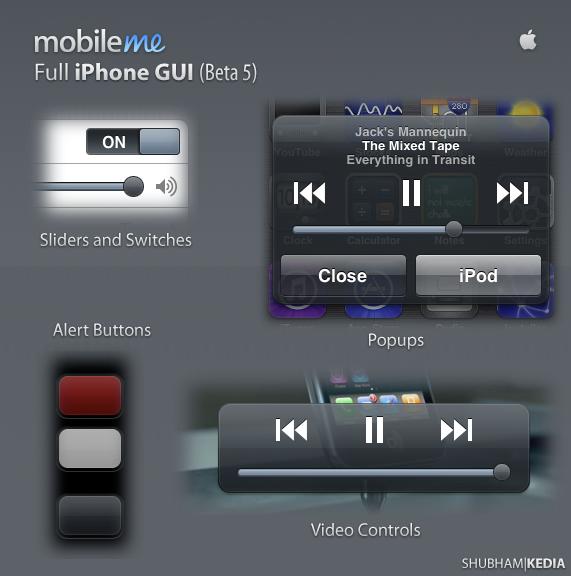 MobileMe Full iPhone GUI by kediashubham