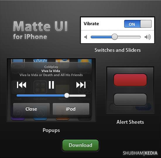 Matte iPhone UI v1.1 by kediashubham