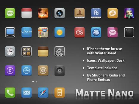Matte Nano theme for iPhone
