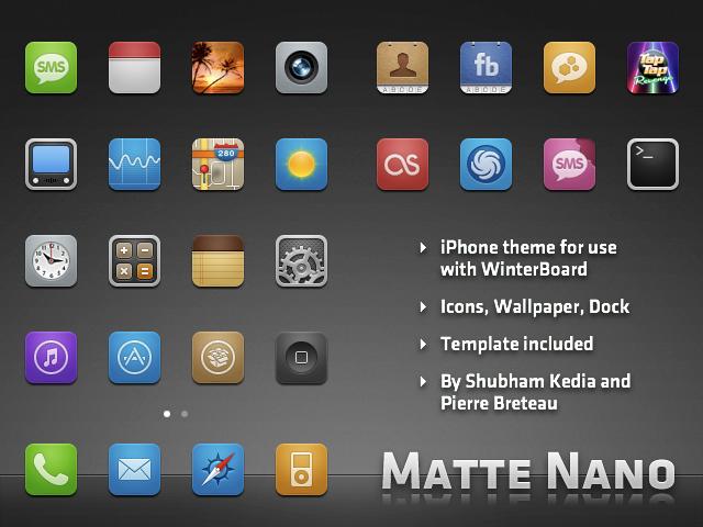 Matte Nano theme for iPhone by kediashubham