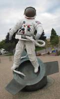 nasa astronaut statue stock