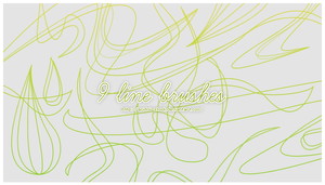 9 Line Brushes