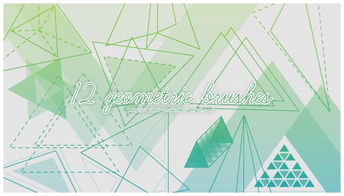 12 Geometric Brushes by acidmii-stock