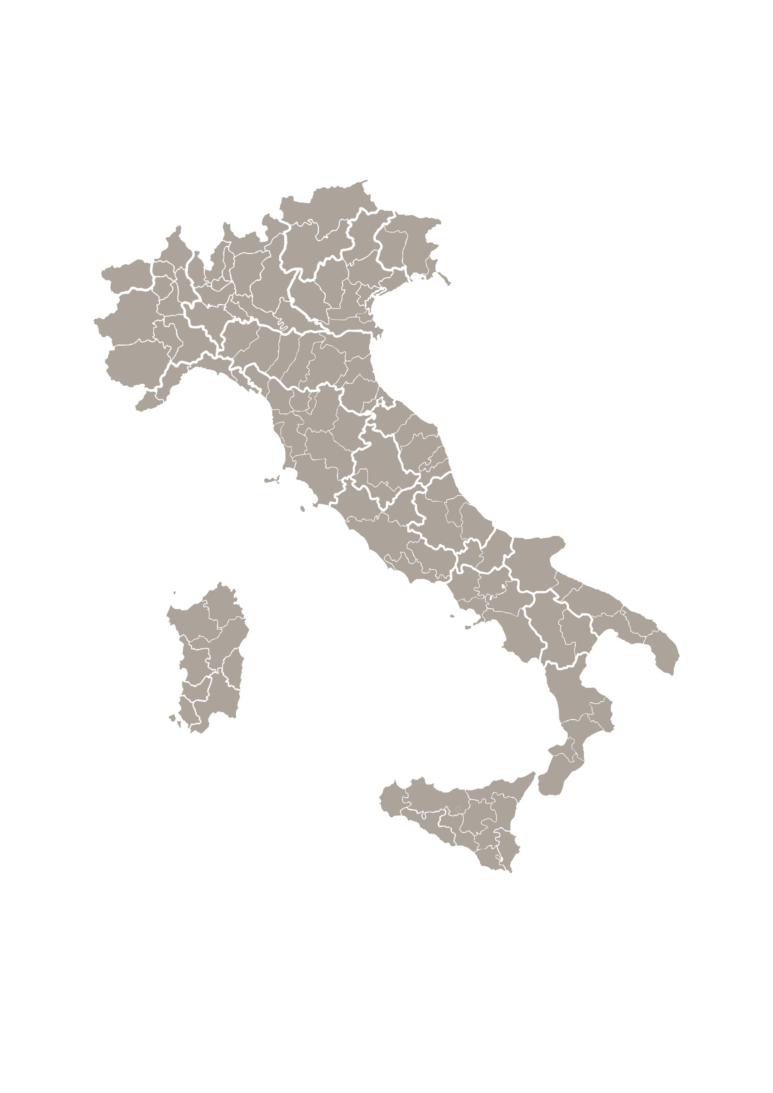 Italia Cartina Province.Cartina Italia Vettoriale Suddivisione Province By Xtremeflier On Deviantart