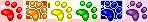 Paw Print Divider (Rainbow) - F2U! by Drache-Lehre