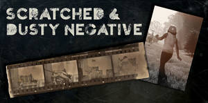 Scratched and Dusty Negative Texture Pack