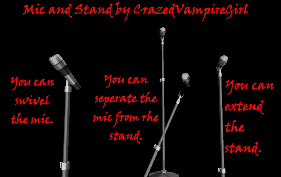 MMD mic and stand DL by CrazedVampireGirl