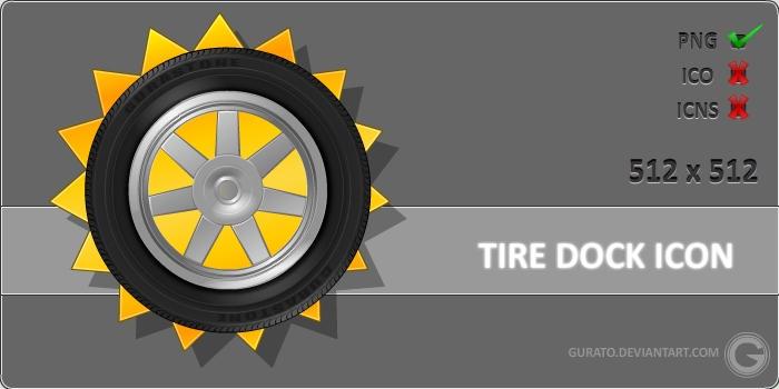 Tire Dock Icon by Gurato