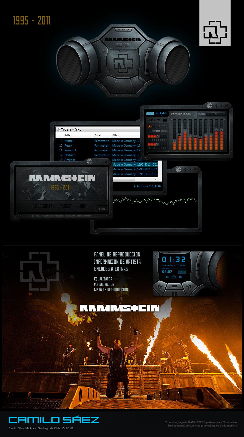 Rammstein 1995 - 2011 WMP Skin