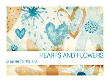 Hearts and Flowers PS 7.0 by Pfefferminzchen