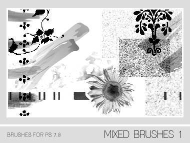 Mixed Brushes 1 PS 7.0 by Pfefferminzchen