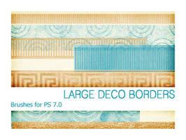 Large Deco Borders PS 7.0 by Pfefferminzchen