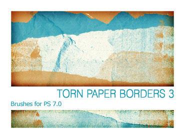 Torn Paper Borders 3 PS 7.0