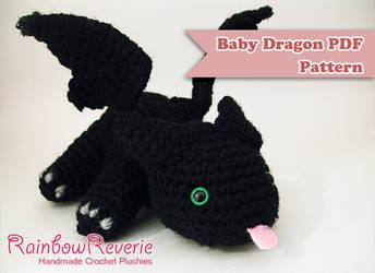 Baby Dragon Amigurumi Pattern by RainbowReverie