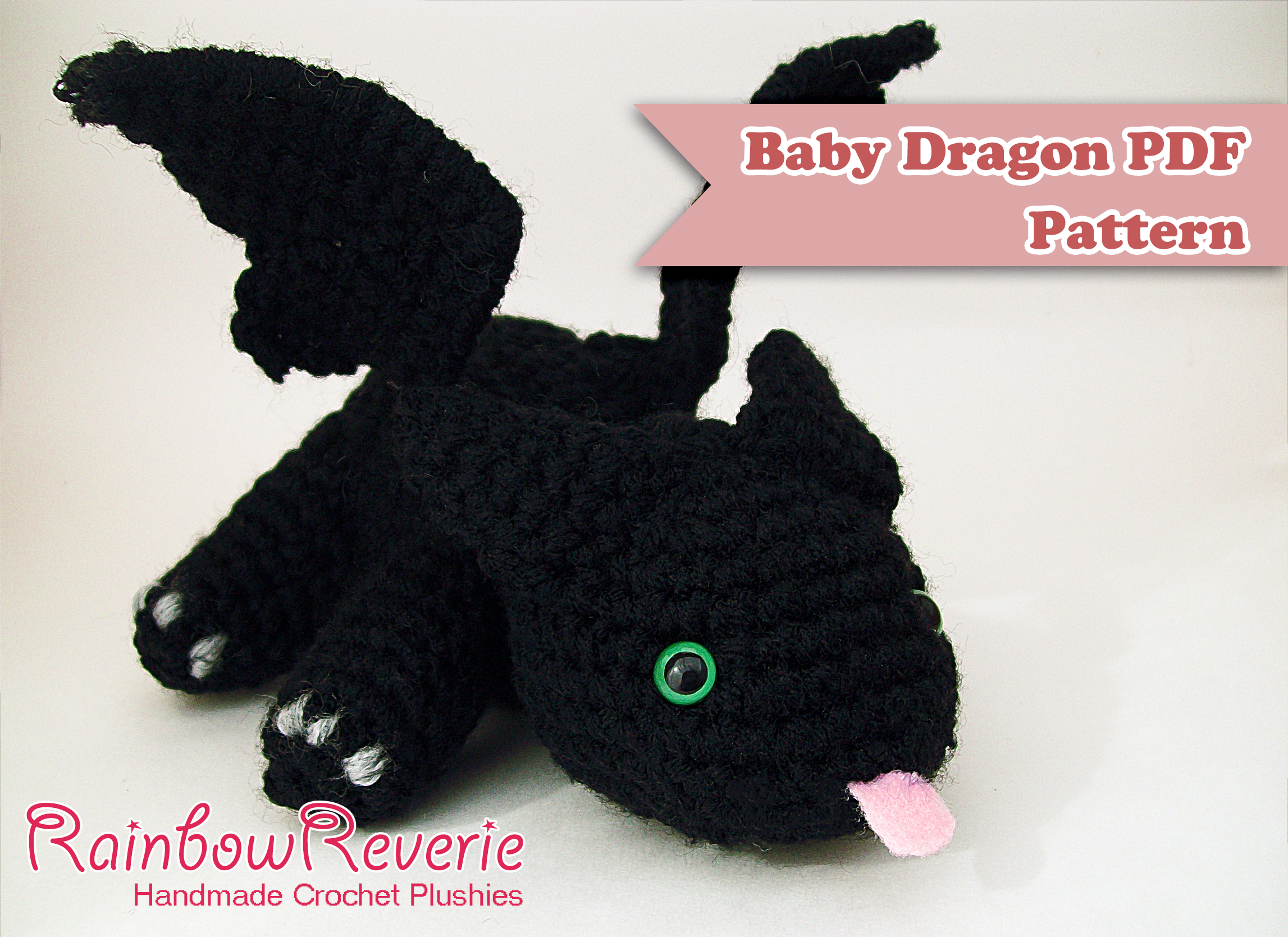 Amigurumi Baby Dragon : Baby dragon amigurumi pattern by rainbowreverie on deviantart