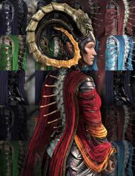 Dragon Empress Spines Freebie by Aarki