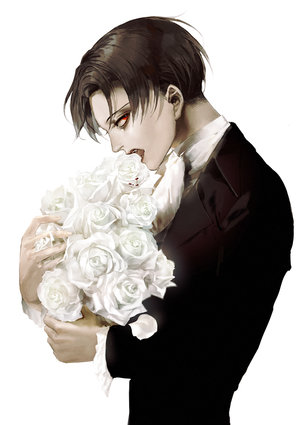 Au vampire levi x reader a mysterious visitor p1 by