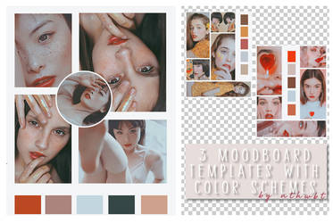 Moodboard Templates with Color Schemes (by nthwbt)