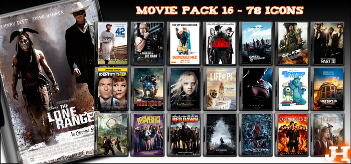 Movie Pack 16 - 78 Icons