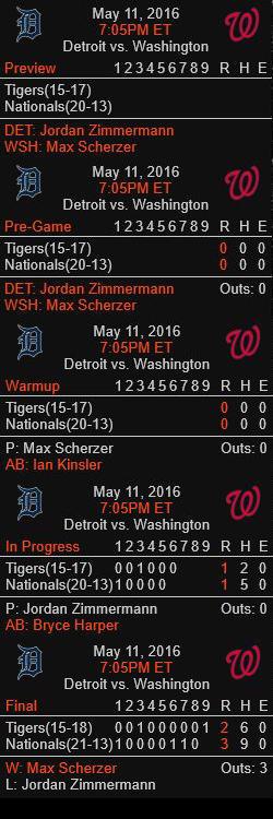 MLBScoreboard v1.5