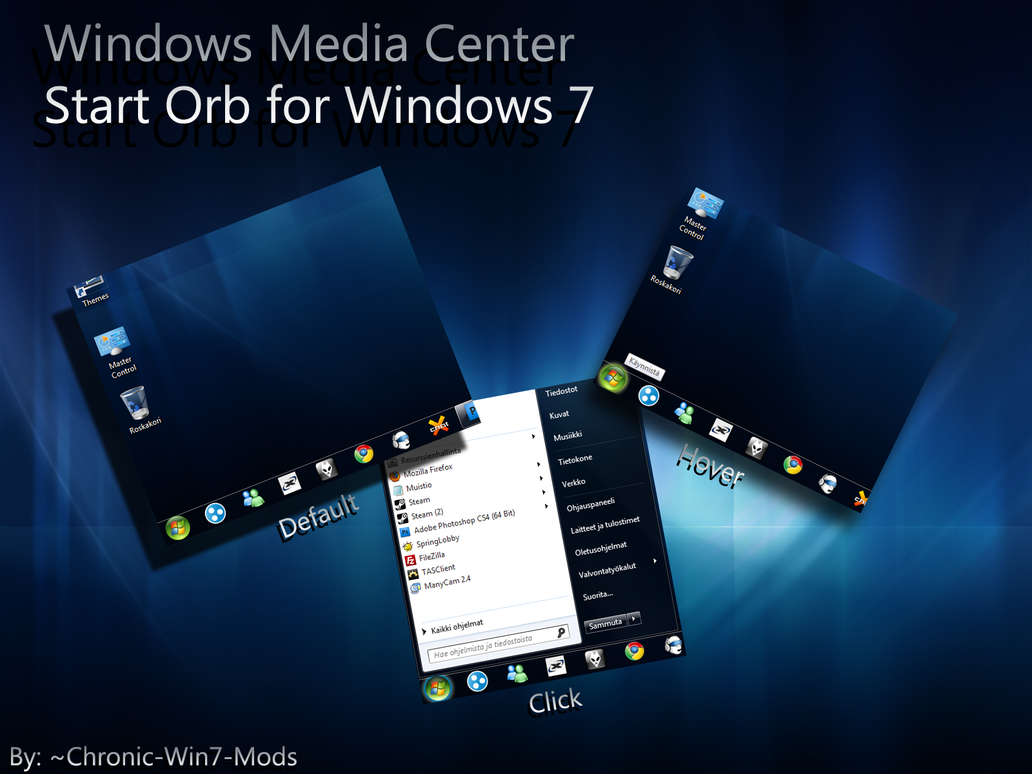 Windows Media Center Start orb by Chronic-Win7-Mods