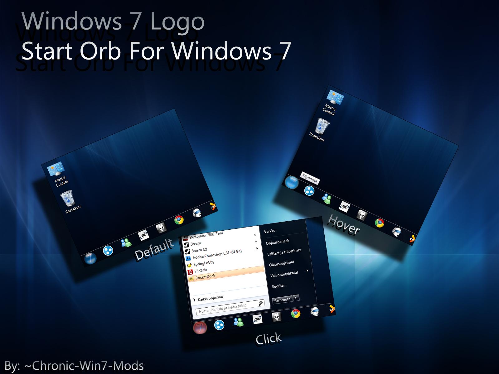 Windows 7 Logo Start Orb by Chronic-Win7-Mods