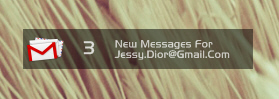 Gmail For Rainmeter by jessydior