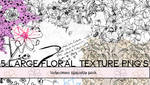 5 Large Floral Texture PNG Pack