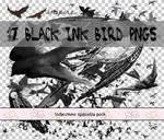 Black Ink Bird PNGs
