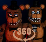 Cinema4D Withered Freddy (+ Unwithered Freddy) 2.0