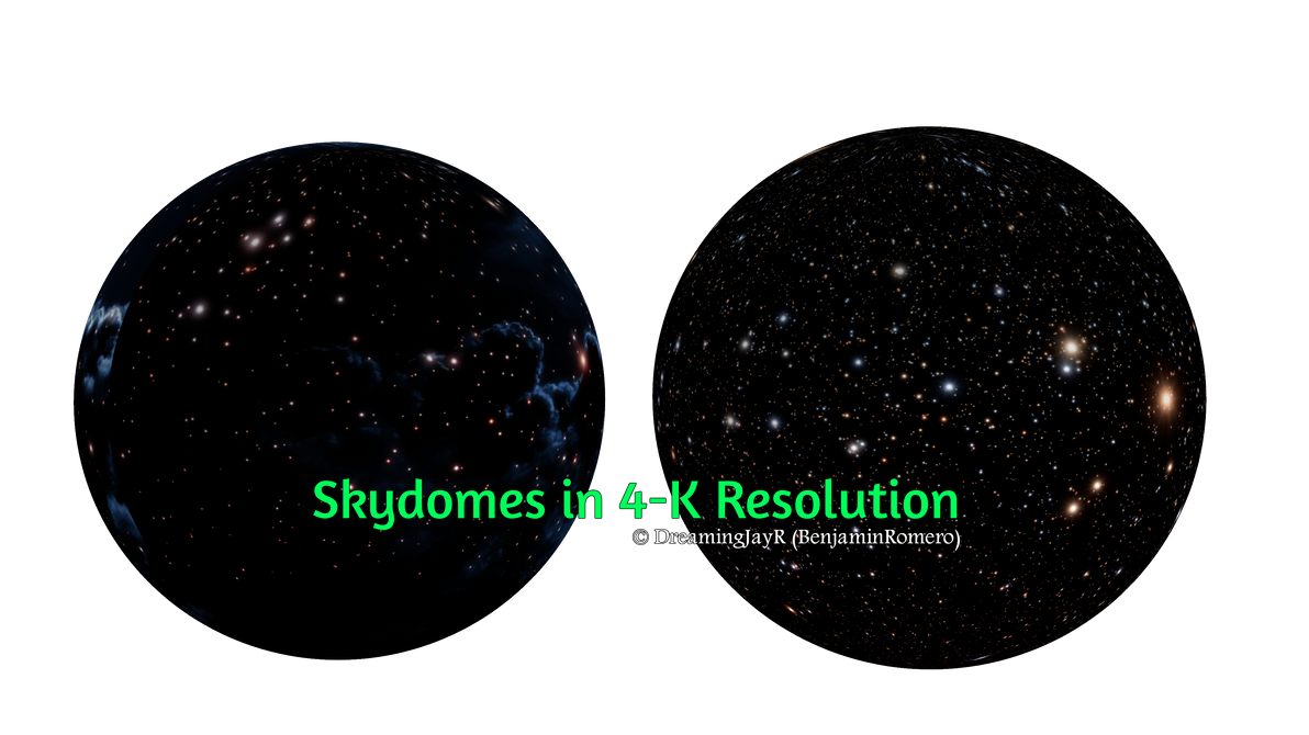[MMD Download] Nightsky Skydomes in 4K Resolution by BenjaminRomero
