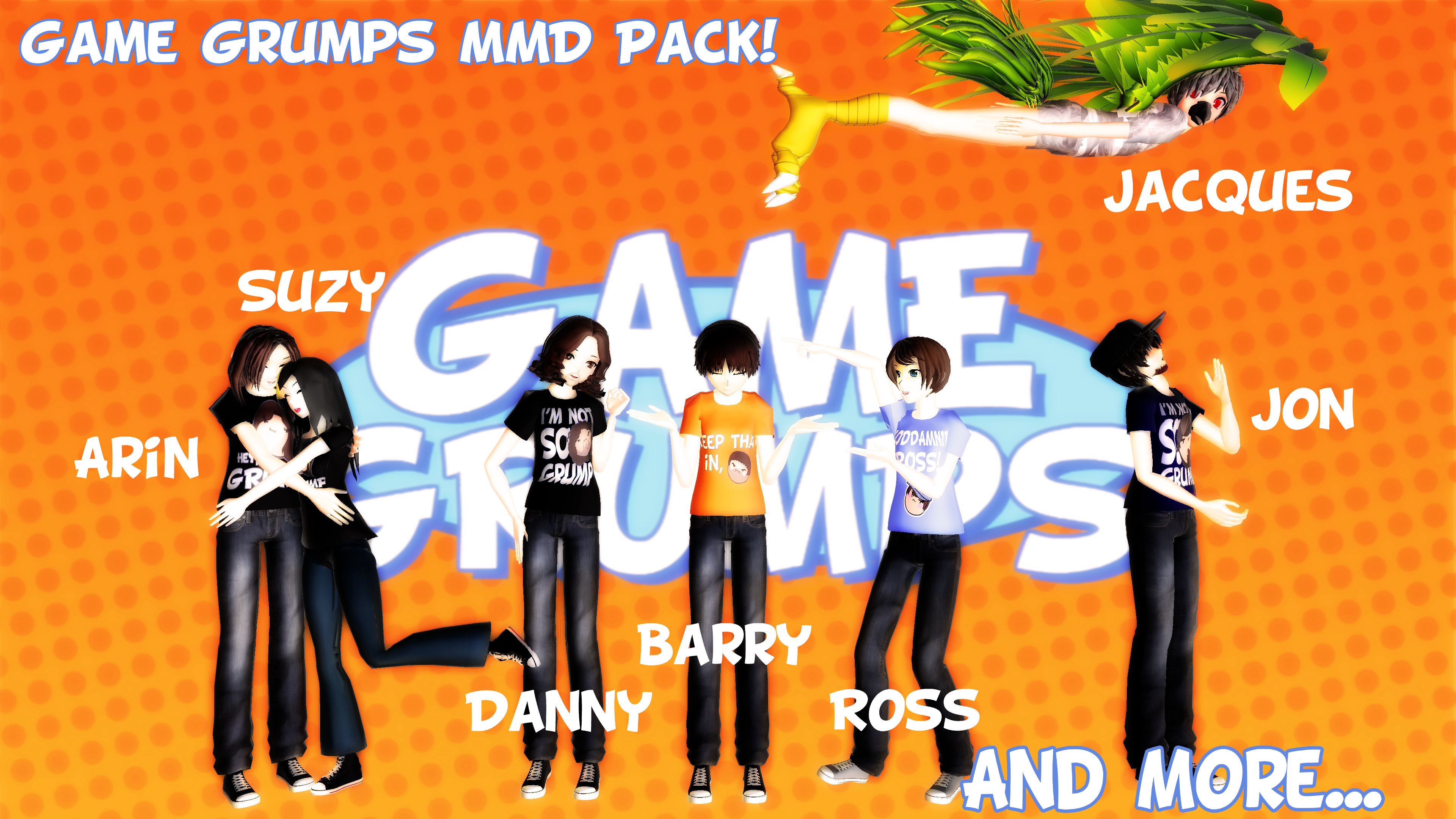 BIG-ASS GAME GRUMPS MMD PACK DOWNLOAD! by ...