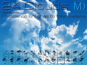 24 Clouds - Photoshop Brushes by MilaVasileva