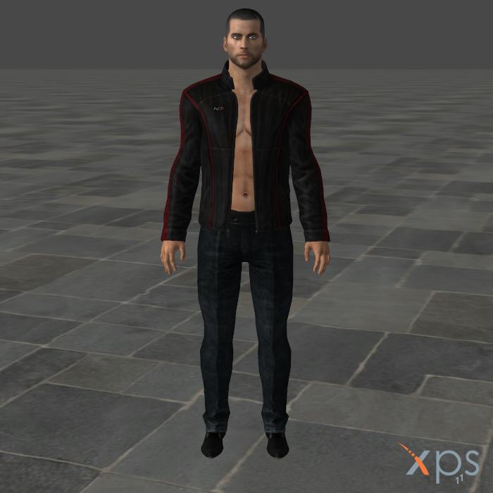 Shepard Sexy Mesh Mod for XPS/XNALara by SaltPowered