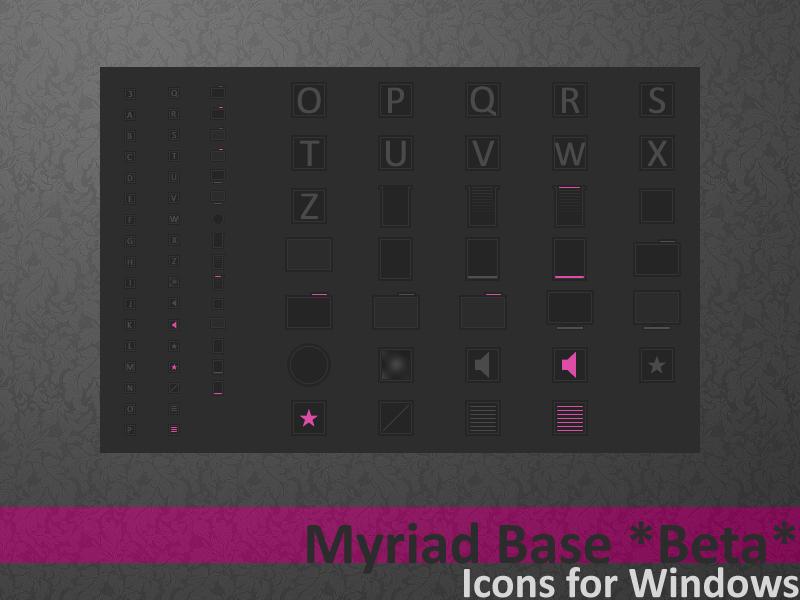 Myriad Base Icons BETA by AlbinoAsian