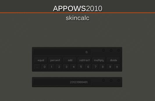 Appows2010 SkinCalc by AlbinoAsian