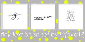 Tiny Text Brush Set 2