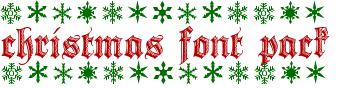 Christmas Font Pack by kissbangBAM