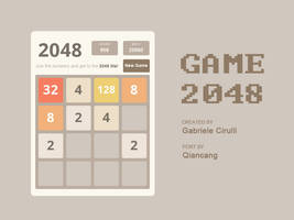 Game 2048 for XWidget by qiancang