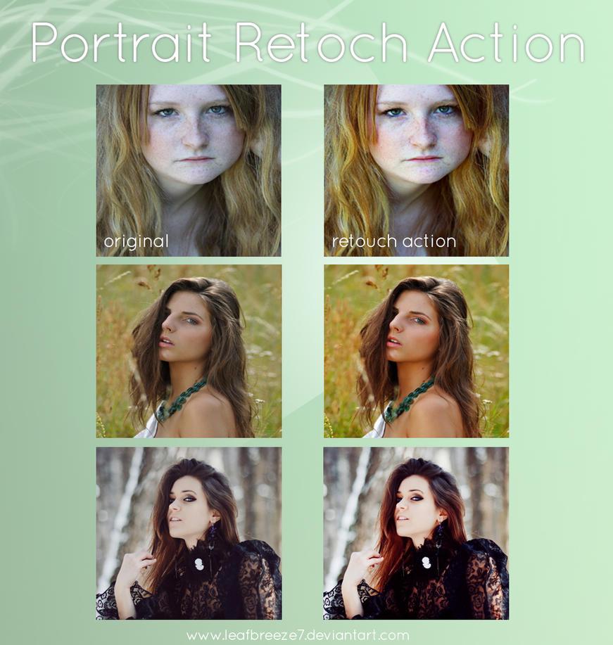 Portrait retouch action by Leafbreeze7