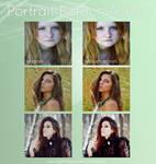 Portrait retouch action