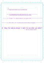 B4 Manga paper template (PSD)