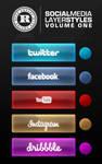 Social Media Layer Styles Vol.1