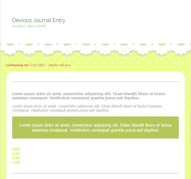 [FREE] Green Polka Journal Skin by kiyasuriin