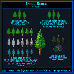 Small Scale Pixel Art Tutorial - Trees