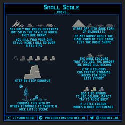 Small Scale Pixel Art Tutorial - Rocks