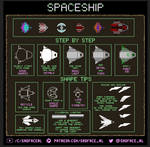 How to draw a Spaceship - A pixel art tutorial