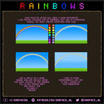 Pixel art tutorial - how to draw rainbows
