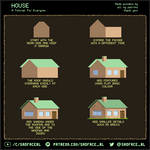 Pixel Art Tutorial - How to Draw a House