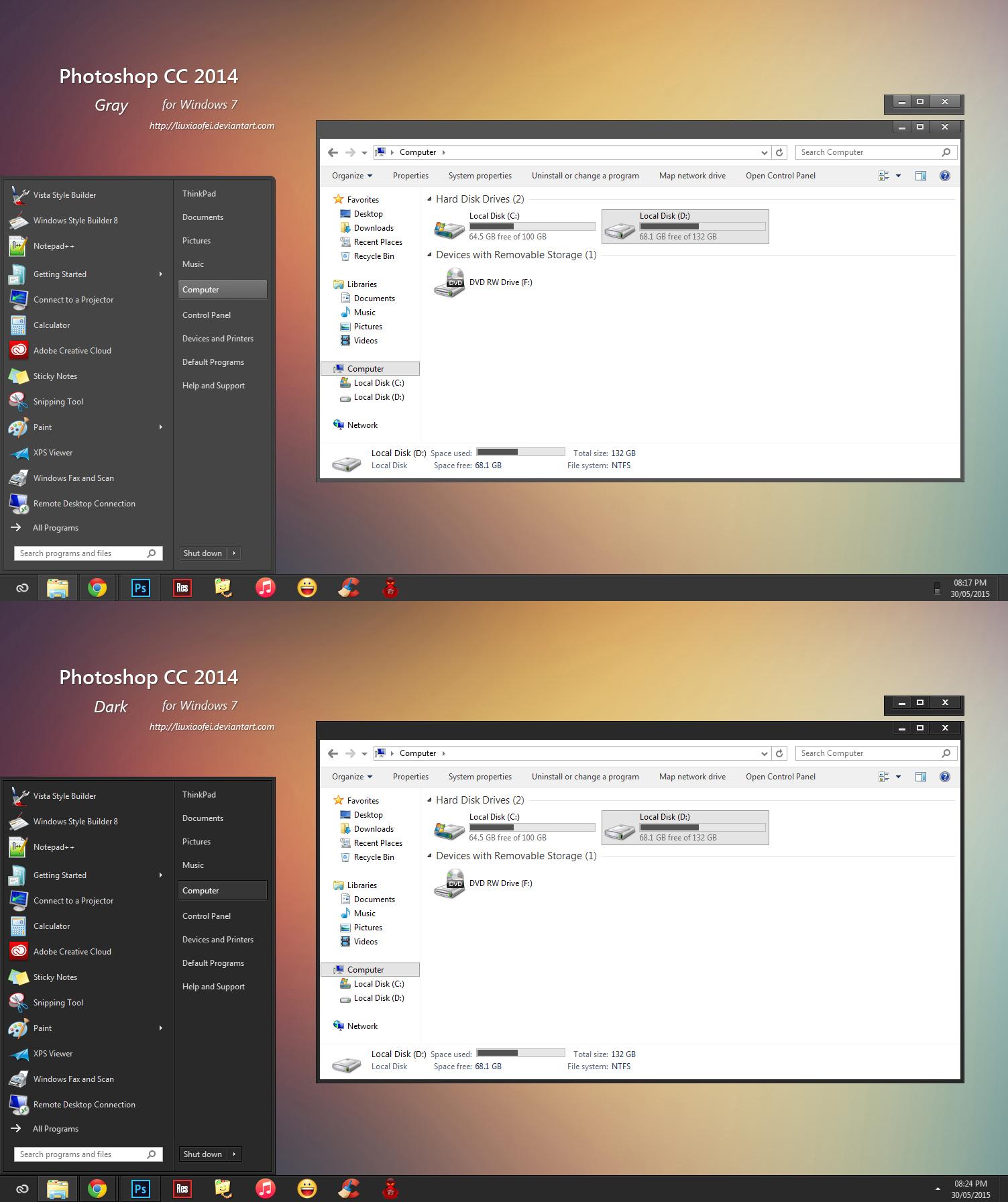 Photoshop CC 2014 VS for Windows 7 by Liuxiaofei